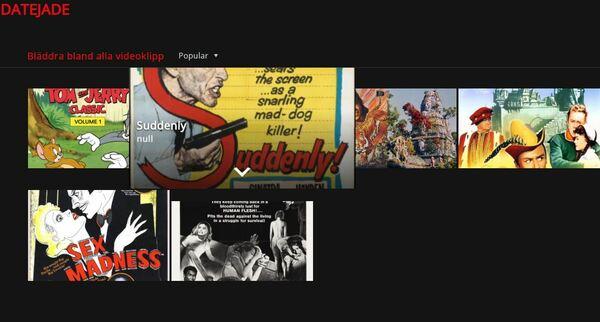 Datejade Le Netflix Pour Les Films Libres De Droits La Fausse