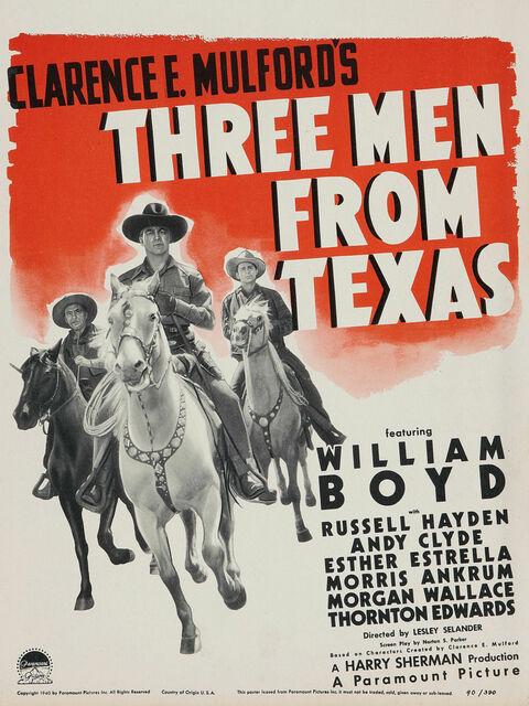 Trois hommes du Texas