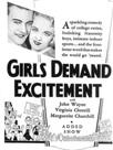Girls demand excitement