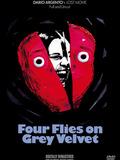 Quatre mouches de velours gris