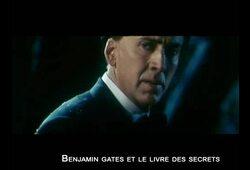 bande annonce de Benjamin Gates et le Livre des Secrets