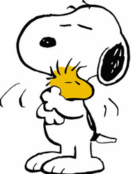 Snoopy and Woodstock of Peanuts