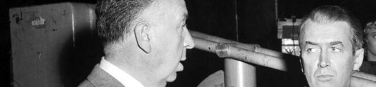 Alfred Hitchcock & James Stewart